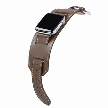 Luksusa Patiesu Leathert Siksnu iWatch Series 5 4 3 2 1 Aproci Watchband Apple Skatīties Joslas 42mm 38mm 40mm 44mm Aproce Jostas