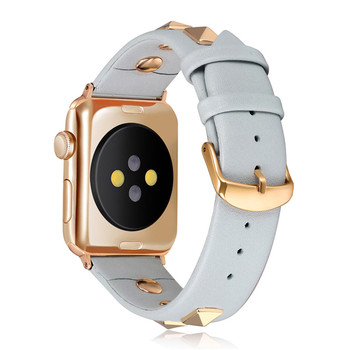 Punk Ādas siksna Apple skatīties joslas 44 mm, 40mm iWatch band 38mm 42mm Īstas Ādas Watchband aproce Apple skatīties 5 4 3 21